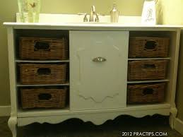 Basket Drawers For Bathroom Thrifty Bathroom Sink Cabinet Hometalk