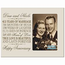 65th wedding anniversary gifts personalized 65th year wedding anniversary gift for
