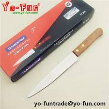 gjh164 tramontina inox stainless steel wooden handle kitchen knife