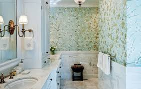Wallpaper Designs For Bathrooms   how to choose colors to match your bold wallpaper