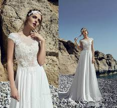outdoor wedding dresses 2016 outdoor wedding dresses garden summer sheer lace a line cap