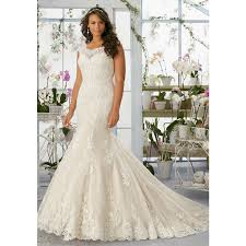 wedding dresses for curvy brides lace mermaid wedding dress rm3194 appliques scalloped
