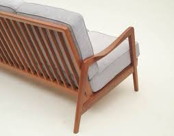 Wooden Sofa Chair Dux Mid Century Scandinavian Design Wood Frame Sofa 1960s From