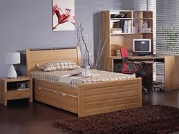 Beech Bed Frame Milan King Single Bed Frame Beech Walnut