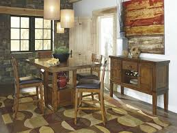 casual dining room sets d594 raylene 5pc rustic pub table set