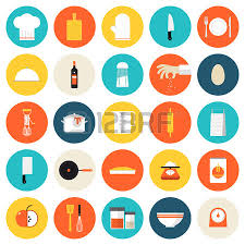 Kitchen Utensils Design by Kitchen Utensils And Cookware Flat Icons Set Cooking Tools And