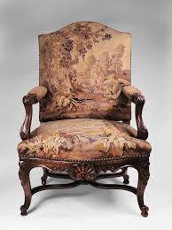 Louis Xv Armchairs Carved 19th C Louis Xv Armchair With Aubusson Tapestry From