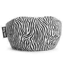 Big Joe Zebra Bean Bag Chair Big Joe 98 In Bean Bag Lounger Zebra Hayneedle