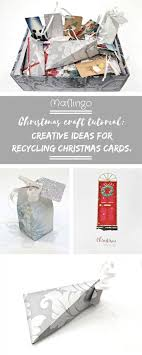 recycled christmas wrapping paper step by step tutorial 4 creative ways of recycling christmas cards