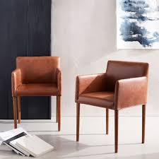 West Elm Armchair Ellis Faux Leather Dining Armchair Armchairs Restaurant
