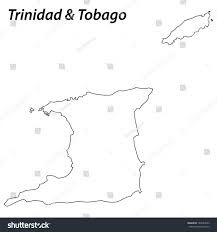 Trinidad Map High Detailed Vector Map Contour Trinidad Stock Vector 167584223
