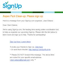 when are emails sent from signup signup
