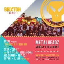 ra metalheadz on the beach at brixton rooftop london