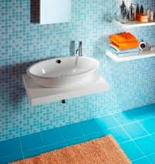 interior amusing light blue bathroom decoration with blue mosaic