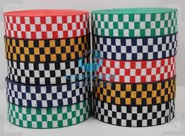 checkered ribbon assorted cap ribbon black white diced buy black