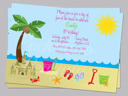 sample birthday invites beach birthday invitations afoodaffair me