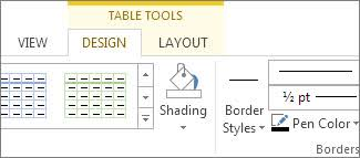 Change Table Style Word Add A Border To A Table Office Support