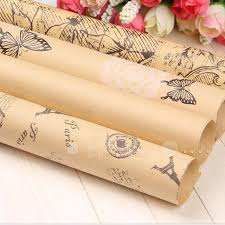 wrapping paper on sale hot sale 5 pcs set 52 75cm kraft paper gift flower wrapping