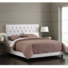 white velvet tufted bed by skyline furniture free shipping today