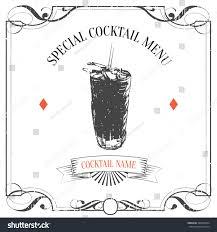 vintage cocktail vector hand drawn sketch cocktail vintage backgroundspecial stock vector