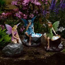 fairy garden statues novelty solar garden lights u0026 statues