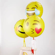 champagne emoticon personalised emoji balloon by pink biscuits notonthehighstreet com