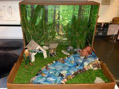 indian tribe diorama social studies project