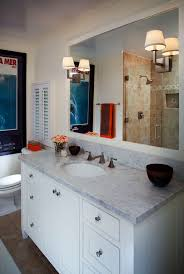 vanity lighting ideas bathroom traditional with marble counter