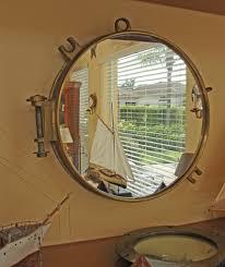 porthole mirrored medicine cabinet brass porthole mirror nautical coastal decor code 3928 price