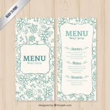 free vector floral wedding menu template 18497 my graphic hunt