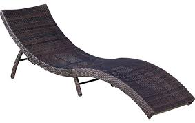 Outdoor Chaise Lounges Maureen Outdoor Wicker Folding Chaise Lounge Chair Mixed Brown