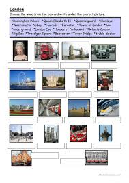 90 free esl london worksheets