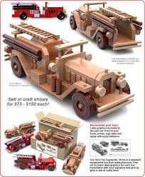 table saw magic 1932 fire engine no 36 wood toy plan set