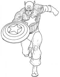 captain america coloring pages marvel superhero 88569