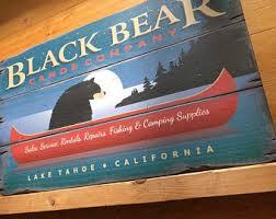black bear sign etsy