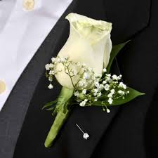 Rose Boutonniere Deluxe Rose Boutonniere