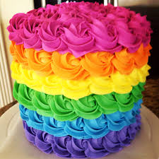rainbow cake 2 stunning inside and out moist almond colorful