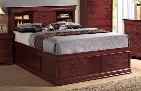 latest queen storage bed with bookcase headboard queen size