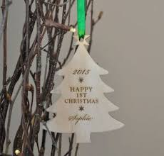 Baby S First Christmas Decoration For Christmas Tree by Personalised Wooden Baby U0027s First Christmas Tree Bauble By Sweet