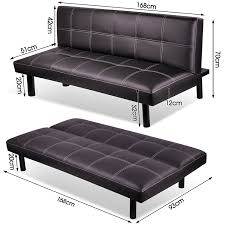 Three Seater Sofa Bed Modern Pu Leather 3 Seater Sofa Bed Fold Down Table Living Room