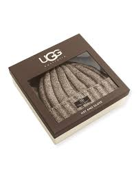 ugg mens gloves sale lyst ugg s hat and glove box set in for