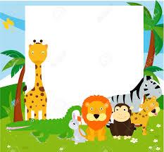 safari cartoon safari clipart frame pencil and in color safari clipart frame