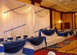 wedding backdrop linen aliexpress buy 3x6m sheer wedding curtain with white drape