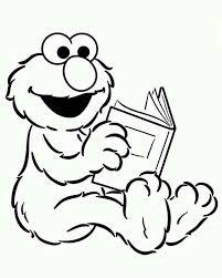 baby elmo reading book sesame street coloring baby elmo