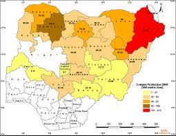 Map Of Nigeria Africa Nigeria