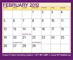 2012 oregon problem awareness calendar