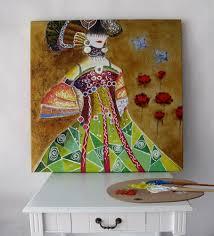warna warni wanita gambar abstrak gambar untuk kamar tidur hiasan