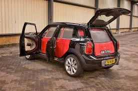 lexus cardboard electric car this cardboard morris mini minor fits inside a mini countryman