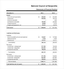 Non Profit Balance Sheet Template Excel Financial Statement Template 20 Free Pdf Excel Word Documents