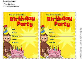 birthday party invitations curious george invitations birthday party pbs parents pbs